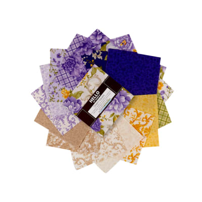 "Kaufman 5"" Charm Squares Beckford Terrace Wisteria, 42 pcs."