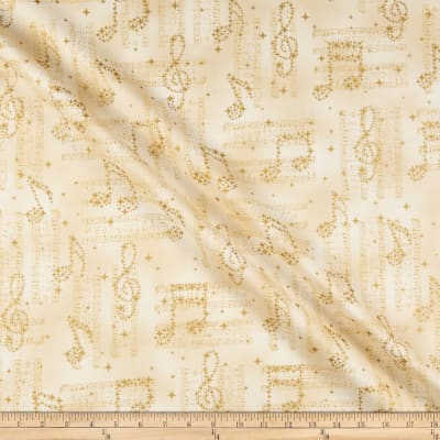 Kaufman In Harmony Musical Notes Champagne