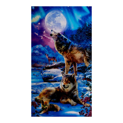 "Kaufman Picture This 24"" Panel Wolves Nightfall"