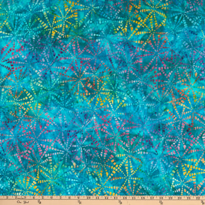Kaufman Natural Formations 3 Pinwheels Turquoise