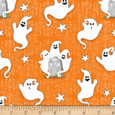 Henry Glass Glow In The Dark Ghostly Glow Town Ghosts Orange