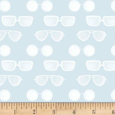 P&B Textiles Coastal Kitty Collection Sun Glasses Light Blue