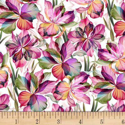 P&B Textiles Flora Fantasia Flowers/Stems Multi