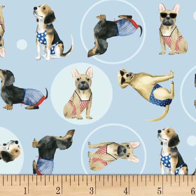 P&B Textiles Hot Dog Collection Toss Dogs Multi