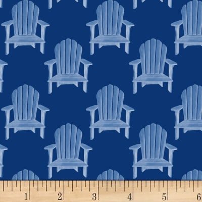 P&B Textiles Hot Dog Collection Toss Beach Chairs Navy