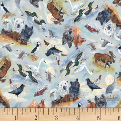 P&B Textiles Alaska's National Parks Animals Multi