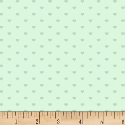 P&B Textiles Welcome Baby Baby Hearts Light Mint
