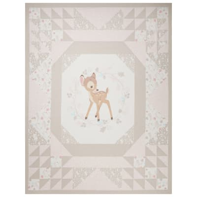 "Disney Cheater Quilt Wallhanging 36"" Panel Bambi Tan"