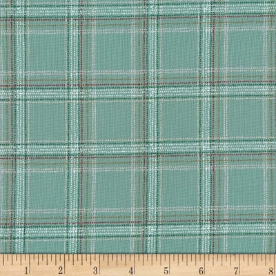 Michael Miller Forest Gifts Spotted Tartan Sage