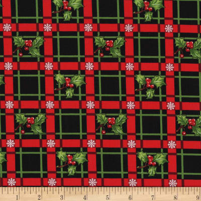 Michael Miller Happy Holly-Days Holly-Day Plaid  Garland