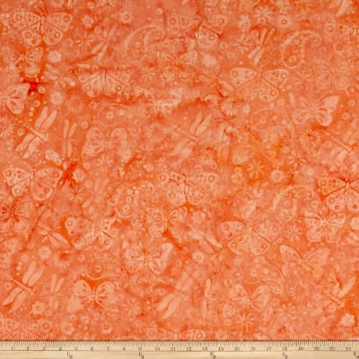Island Batik Ditty Butterfly Paisley Coral