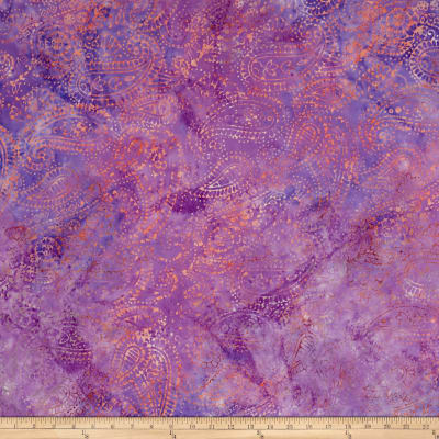 Island Batik Ditty Paisley Outlining  Dark Opal
