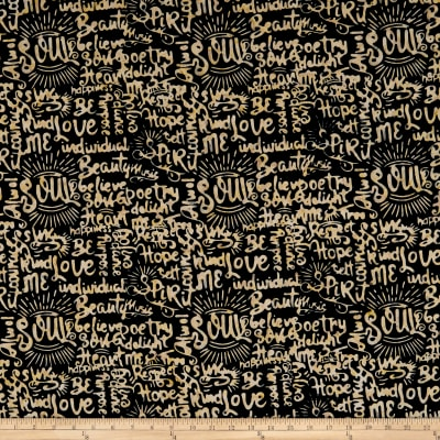 Island Batik Soul Song Speak Black