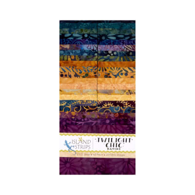 "Island Batik Twilight Chic 40 Piece 2.5"" Strip"