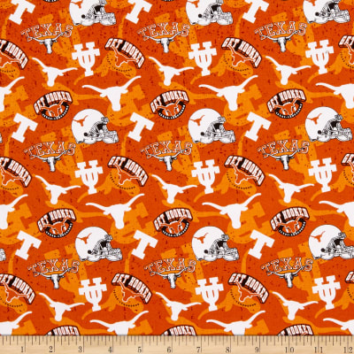 NCAA- Texas 1178 Tone on Tone Orange/Black/White