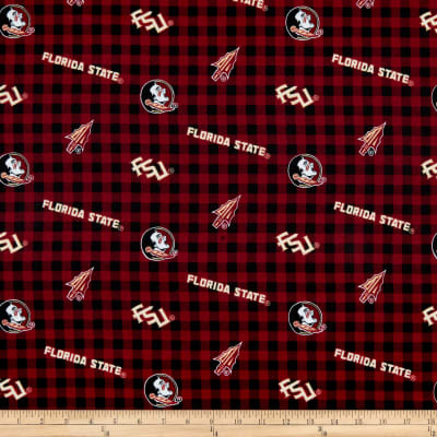 NCAA- Florida State 1192 Flannel Check Maroon/Gold/Black