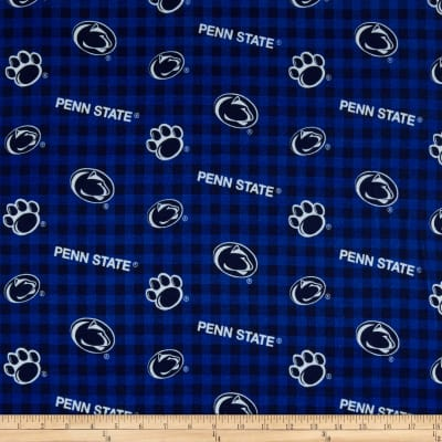 NCAA- Penn State 1192 Flannel Check Navy/White/Blue