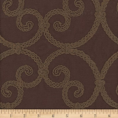 Leiden Embroidered Drapery Chocolate