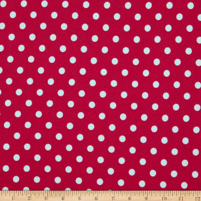 Liverpool Double Knit Polka Dot Fuchsia/Ivory