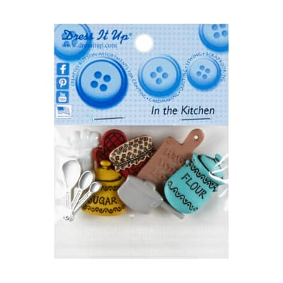 Dress it Up Embellishment Buttons 8pc - In The Kitchen