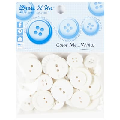Color Me White 18ct Button Pack