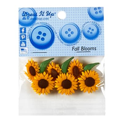 Fall Blooms 7ct Button Pack