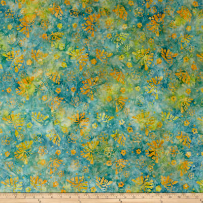 Wilmington Batiks Butterflies and Rings Blue/Yellow