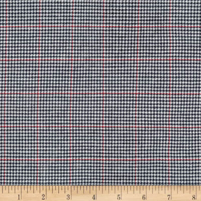 Kaufman Sevenberry: Classic Plaid Twill Houndstooth Navy