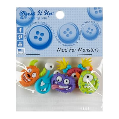 Mad For Monsters 5ct Button Pack