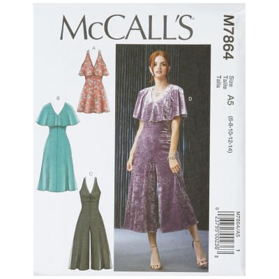 McCall's M7864 Misses'/Miss Petite Dresses and Jumpsuits A5 (Sizes 6-14)
