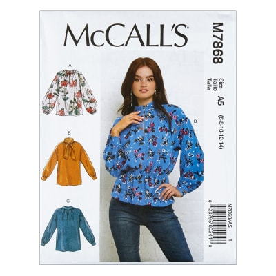 McCall's M7868 Misses' Tops A5 (Sizes 6-14)
