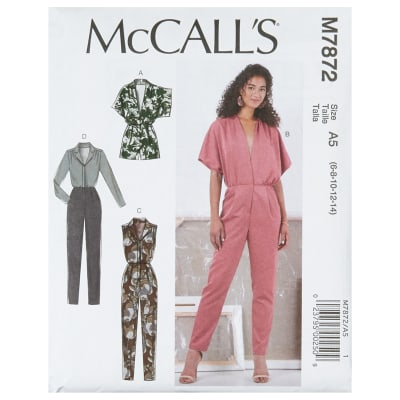 1960s Sewing Patterns | 1970s Sewing Patterns McCalls M7872 Misses Romper and Jumpsuit A5 (Sizes 6-14) $12.57 AT vintagedancer.com
