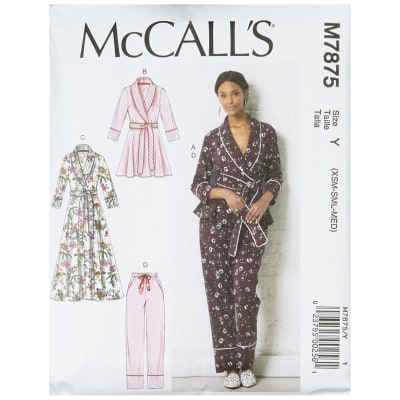 McCall's M7875 Misses' Jacket, Robe, Pants and Belt Y (Sizes XS-S-M)