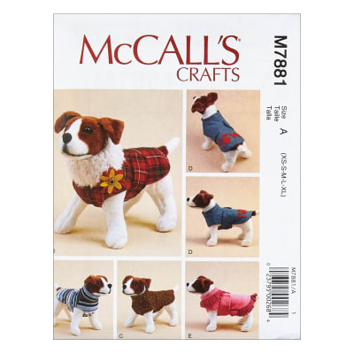 McCall's M7881 McCall's Crafts Dog Coats A (Sizes XS-S-M-L-XL)