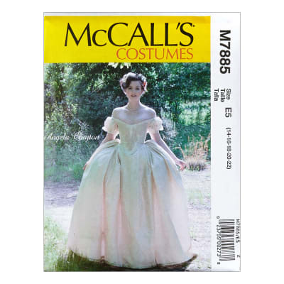 McCall's M7885 Angela Clayton Misses' Costume E5 (Sizes 14-22)