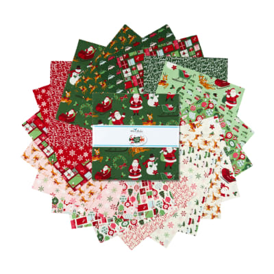 """Riley Blake Merry And Bright 10"""" Stackers 42 Pcs."""