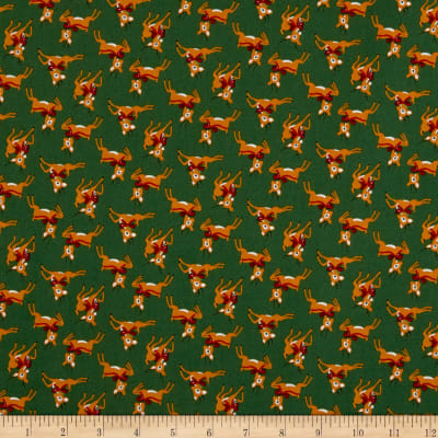 Riley Blake Merry And Bright Deer Green