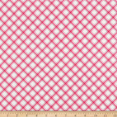 Riley Blake Glamping Plaid Hotpink