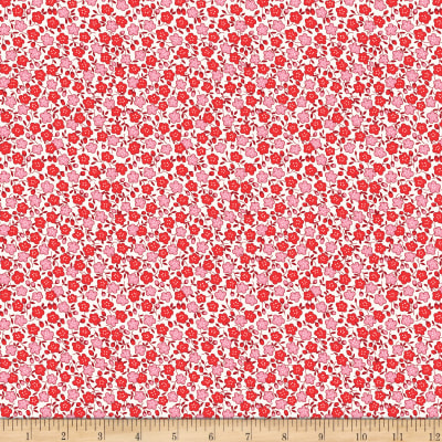 Penny Rose Storytime 30s Floral Red