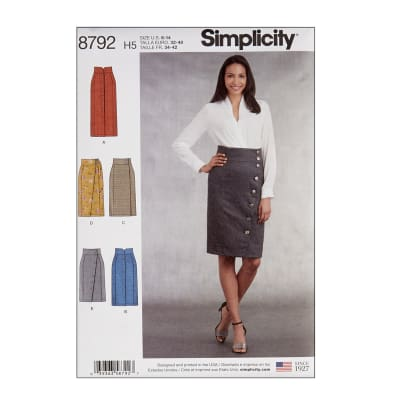 Simplicity 8792 Misses' Skirts H5 (6-8-10-12-14)