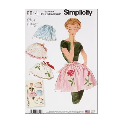 Vintage Aprons, Retro Aprons, Old Fashioned Aprons & Patterns Simplicity 8814 Misses Vintage Aprons OS (One Size) $13.77 AT vintagedancer.com