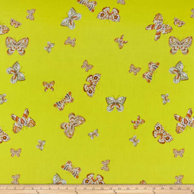 Milly Cotton Sateen Digital Butterfly Yellow