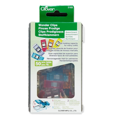 Clover Wonder Clips Assorted Colors 50pc