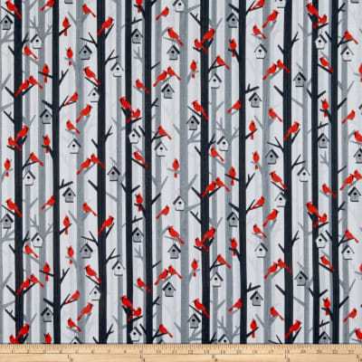 Kanvas Noel Forest Cozy Cardinals Gray/Red