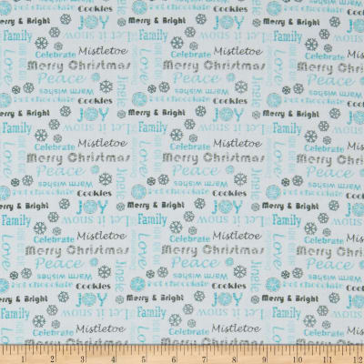 Contempo Hearty the Snowman Sweet Wishes Turquoise