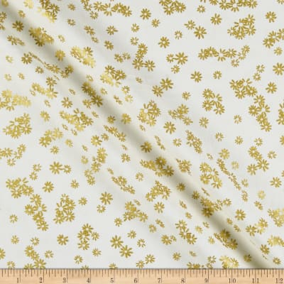 Kanvas Metallic Mixers Gold Metallic Flowers Cream/Gold