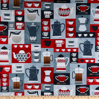 Kanvas Perfect Blend Coffee Time Boxes Red/Gray