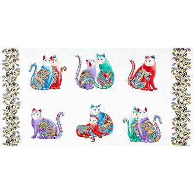 Benartex Cat-I-tude 2 PurrFect Together Purr Fect Together White/Multi