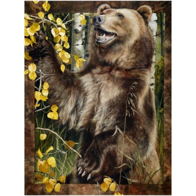 Wild And Playful Bear Panel