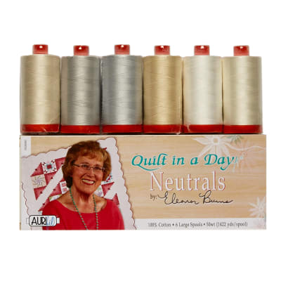 Aurifil Quilt in a Day Collection by Eleanor Burns - 6 Spools 50wt